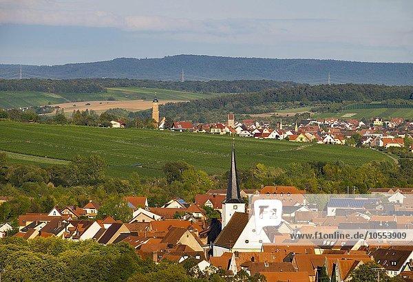 Nordheim am Main,  hinten Volkach,  Mainfranken,  Unterfranken,  Franken,  Bayern,  Deutschland,  Europa