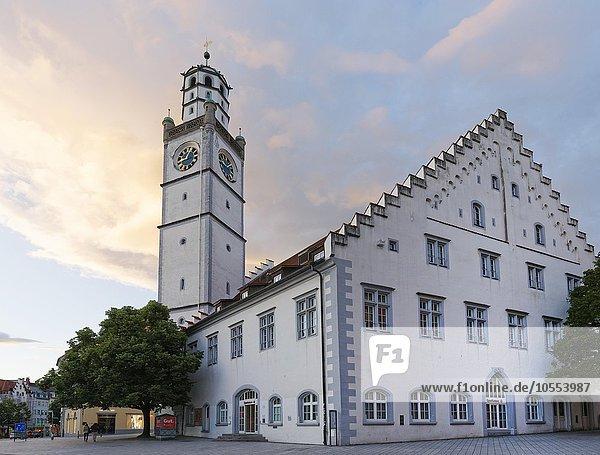 Blaserturm mit Waaghaus  Ravensburg  Oberschwaben  Baden-Württemberg  Deutschland  Europa Blaserturm mit Waaghaus, Ravensburg, Oberschwaben, Baden-Württemberg, Deutschland, Europa