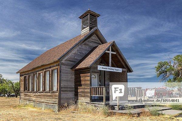 Wedding chapel  Shaniko  Wasco County  Oregon  United States  North America