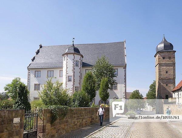 Alte Vogtei und Eulenturm  Gerolzhofen  Unterfranken  Franken  Bayern  Deutschland  Europa