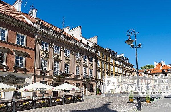 Alte Häuser  Altstadt  Warschau  Masowien  Polen  Europa