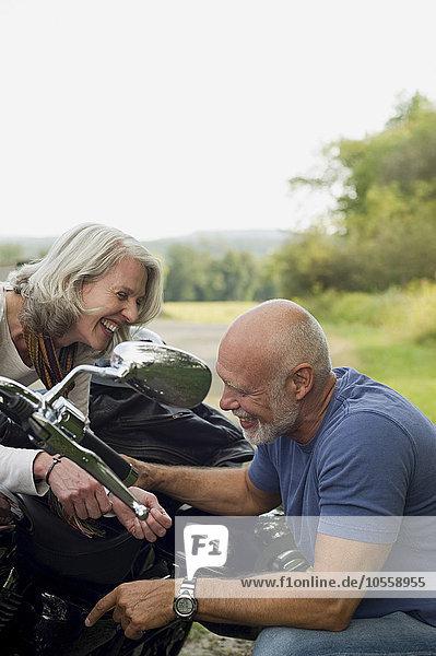 Motorrad alt reparieren
