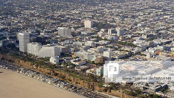 Stadtansicht Stadtansichten Vereinigte Staaten von Amerika USA Strand Ansicht Luftbild Fernsehantenne Kalifornien