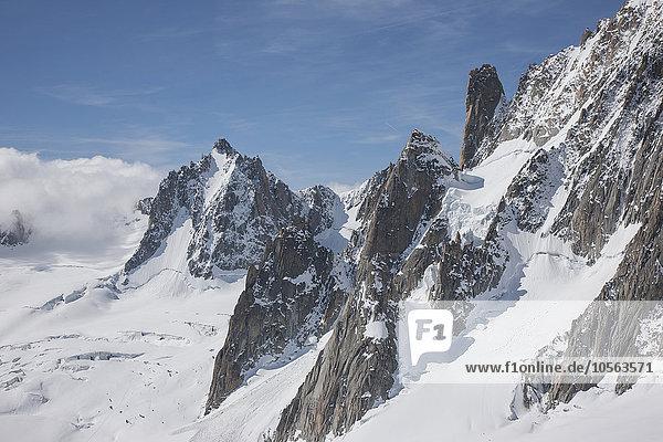 Frankreich Chamonix Schnee