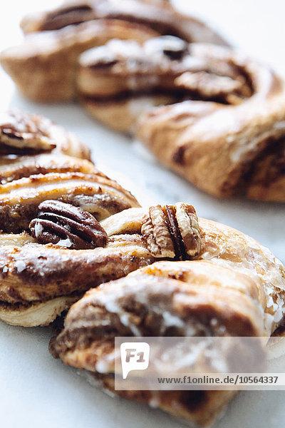 Close-up Dessert verdreht Pekannuss