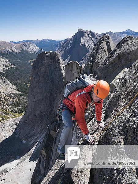 Europäer Klettern Berglandschaft