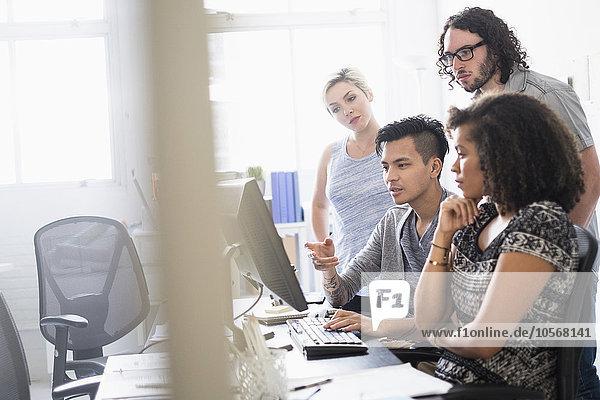 Zusammenhalt Mensch Büro Menschen arbeiten Business
