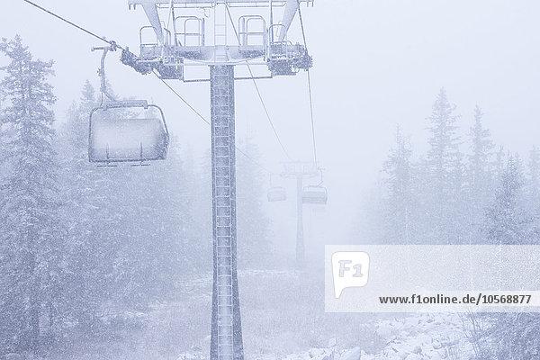 heben Hügel Schnee Ski