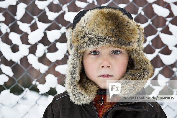 Boy wearing fun hat
