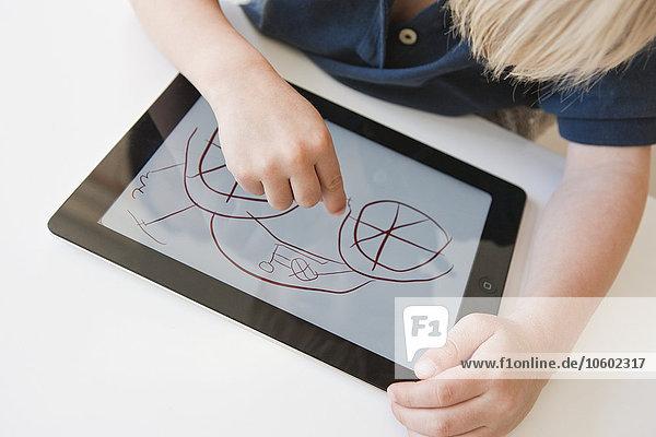 Junge - Person Zeichnung Tablet PC