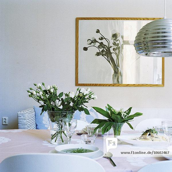 Blume Blumenvase Tisch
