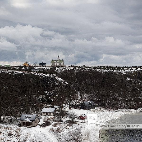 Gebäude Küste Schnee Wetter