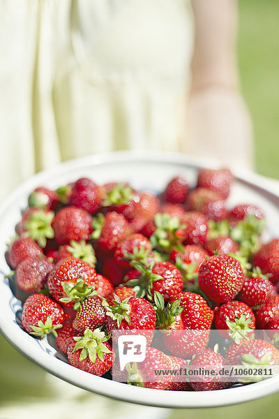 Glas Erdbeere