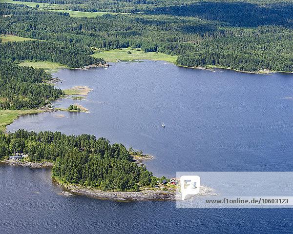 Küste Ansicht Luftbild Fernsehantenne