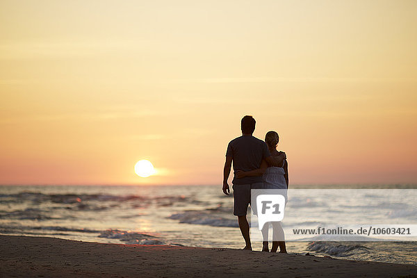Strand, Sonnenuntergang