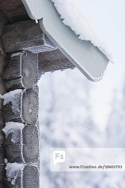 Snow on gable