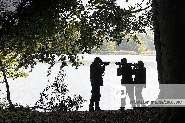 Mann Silhouette Fotoapparat Kamera