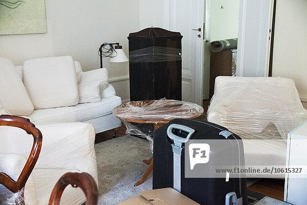 Möbel Zimmer Verpackung Bewegung Wohnzimmer umwickelt