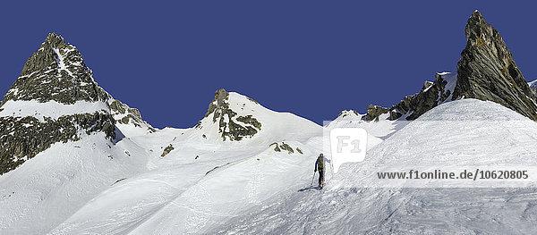 Italien  Grand St. Bernhard Pass  Mont Fourchon  Skitouren
