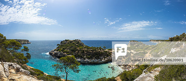 Spanien  Balearen  Mallorca  Blick auf die Bucht Calo des Moro