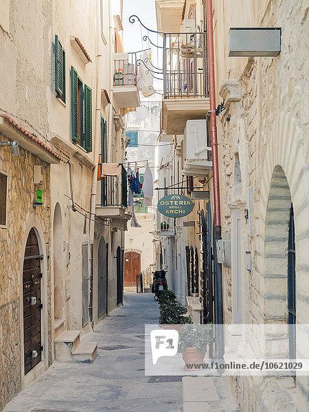 Italien  Apulien  Gargano  Vieste  Altstadt  Via Ripe