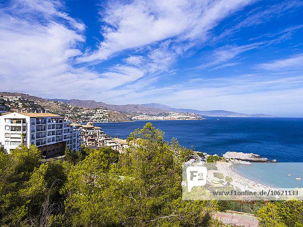 Spanien  Andalusien  Grenada  Costa de Tropical  Blick auf La Herradura