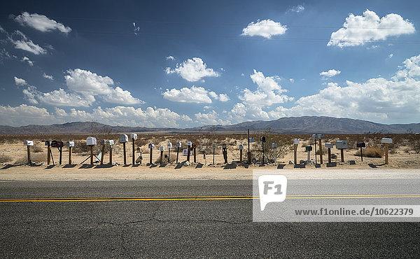 USA  Arizona  mailboxes on roadside