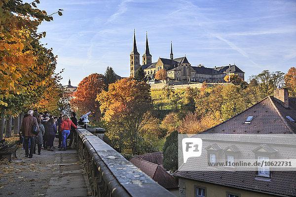 Deutschland,  Bamberg,  Blick auf Neue Residenz mit Kloster Michelsberg