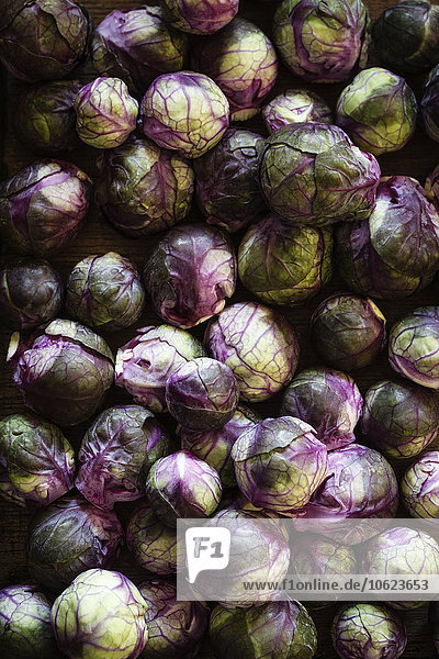 Red brussels sprouts