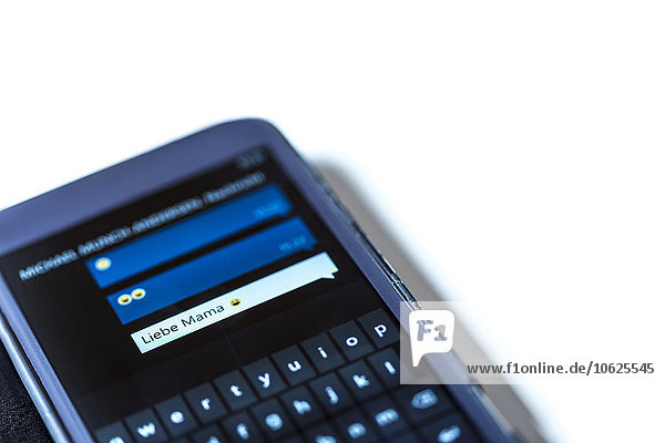 Smartphone with text message