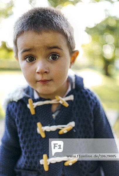Bildnis des kleinen Jungen mit weit geöffneten Augen Bildnis des kleinen Jungen mit weit geöffneten Augen