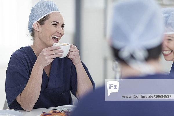 Ärzte im Krankenhaus  Morgenpause