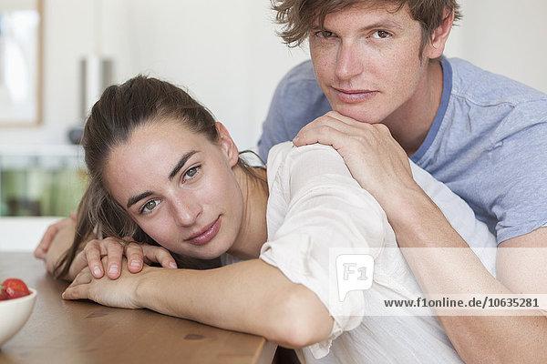 Porträt eines jungen Paares  Nahaufnahme