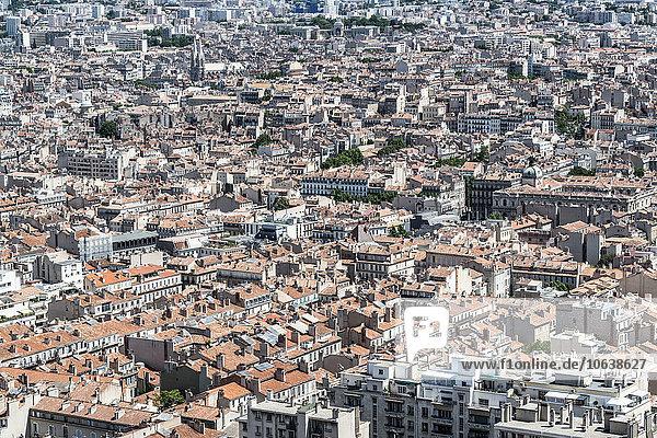 Luftaufnahme des Stadtbildes