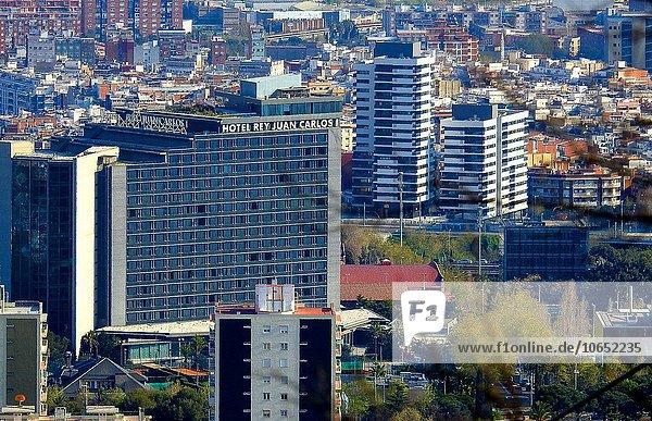 Schrägansicht schräg Hotel Barcelona Katalonien Spanien
