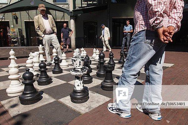 Amsterdam Hauptstadt Spiel Quadrat Quadrate quadratisch quadratisches quadratischer Schach Niederlande
