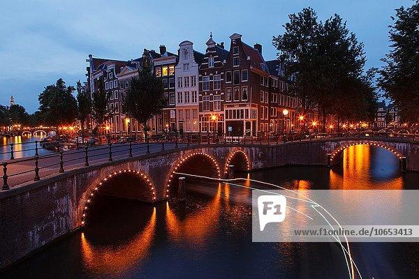 Amsterdam Hauptstadt Europa über Brücke Niederlande