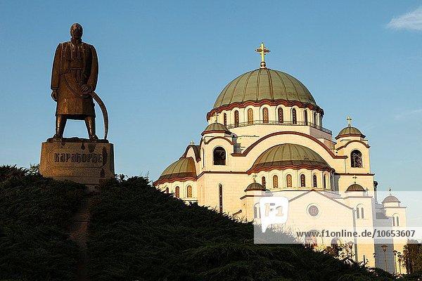 schwarz Kirche Statue russisch orthodox russisch-orthodox Serbien