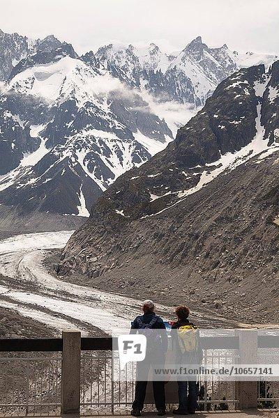 Wäscheständer Frankreich Europa klein Zug Französische Alpen Chamonix Savoie