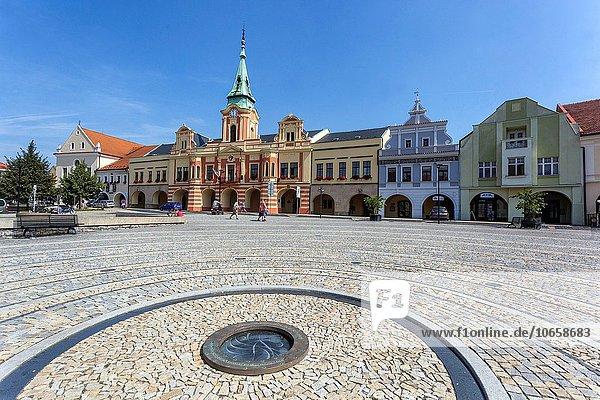 Halle Stadt Quadrat Quadrate quadratisch quadratisches quadratischer Tschechische Republik Tschechien Böhmen