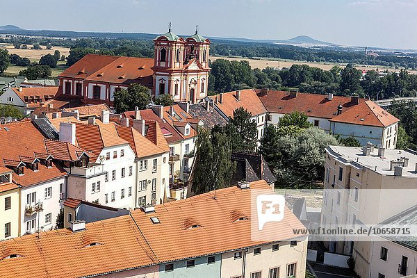 Jesuit church and college  the Annunciation of the Virgin Mary  Litomerice  Northern Bohemia  Czech Republic.