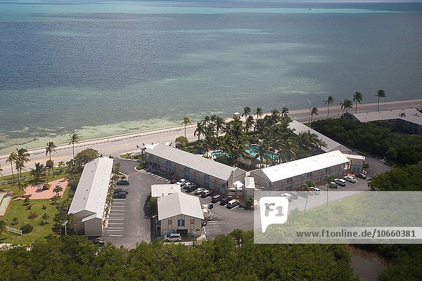 Aerial view of a hotel  Key West  Florida  United States of America.