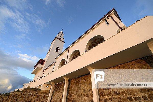 Santuario de Monserrate  church on mountain  Cerro Monserrat  place of pilgrimage  Bogotá  Colombia  South America