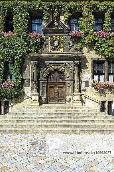 Rathaus  UNESCO Weltkulturerbe  Quedlinburg  Harz  Sachsen-Anhalt  Deutschland  Europa