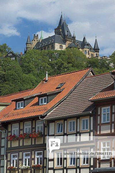Schloss Wernigerode  Wernigerode  Harz  Sachsen-Anhalt  Deutschland  Europa