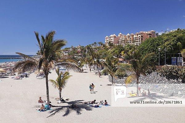 Strand Playa del Duque  Costa Adeje  Teneriffa  Kanarische Inseln  Spanien  Europa