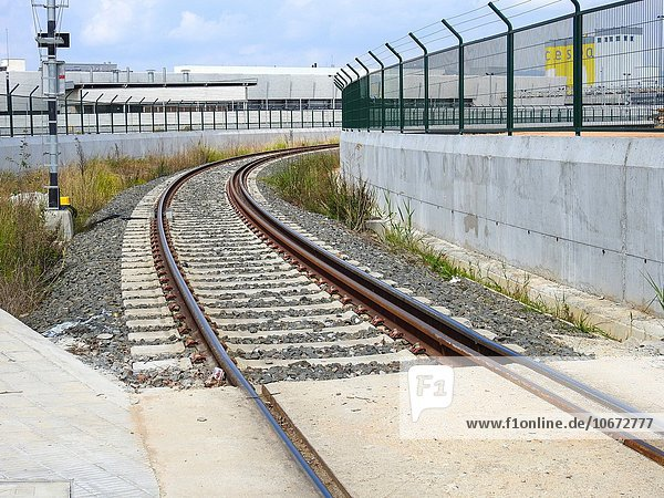 Train tracks. Barcelona  Spain