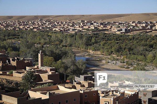 Oase Tinerhir  Hoher Atlas  Souss-Massa-Draâ  Marokko  Afrika