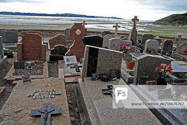 Frankreich Kirche Heiligtum Bretagne Friedhof Greve