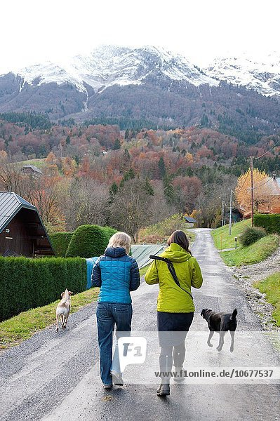 Frankreich französisch Dorf Alpen Herbst Ansicht Geographie Savoie